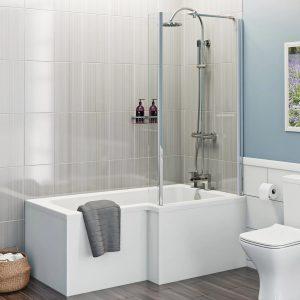 L Shape 1700 Right Hand Shower Bath
