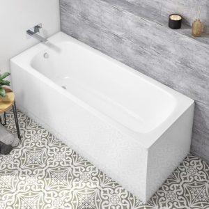 Strata Single Ended Steel Bath With Antislip