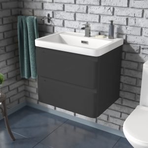 Gotti Wall Hung Vanity Unit Grey