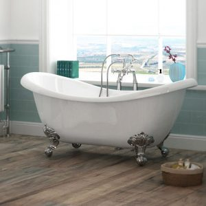 Charlotte 1750mm Double Slipper Freestanding Bath