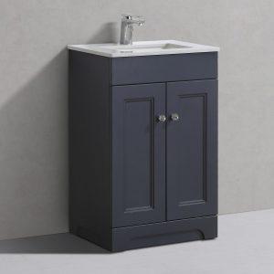 Hyde 550mm Floorstanding Vanity Unit Charcoal
