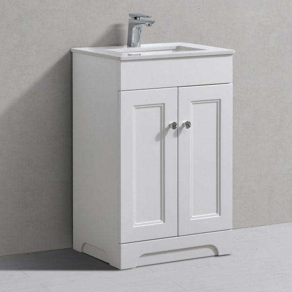 Hyde 550mm Floorstanding Vanity Unit White