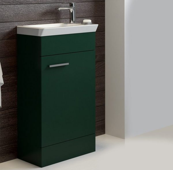 Charm 450mm Matt Green Floorstanding Cloakroom Unit