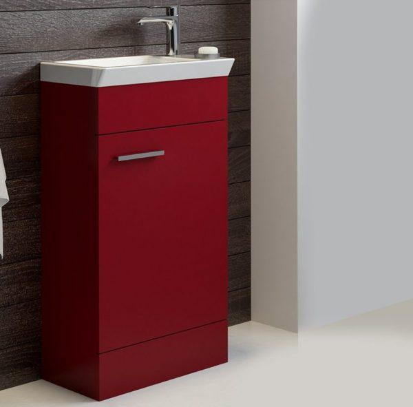 Charm 450mm Matt Red Floorstanding Cloakroom Unit