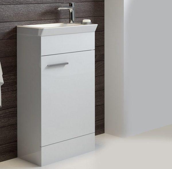 Charm 450mm Gloss White Floorstanding Cloakroom Unit