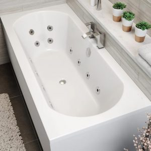 Clover Double Ended 12 Jet Whirlpool Bath