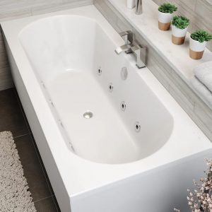 Clover Double Ended 8 Jet Whirlpool Bath