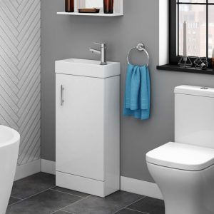 Kubix 400mm Floorstanding Cloakroom Unit White
