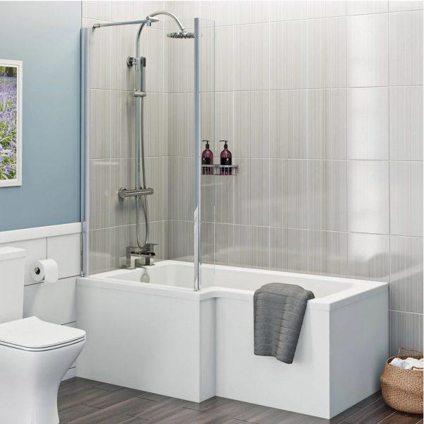 L Shape Left Hand Shower Bath
