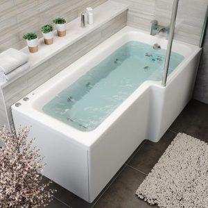 L Shape 1700 Right Hand 12 Jet Whirlpool Bath