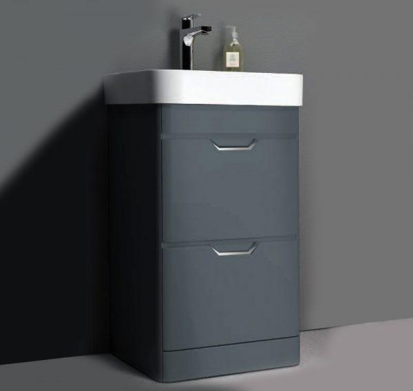 Sott Aqua Dark Grey Floorstanding Vanity Unit