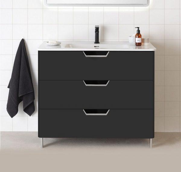 Lyon Gloss Grey 800mm Floorstanding Vanity Unit