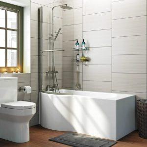 Adara Left Hand P Shape Bath
