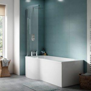 P Shape Whirlpool Bath