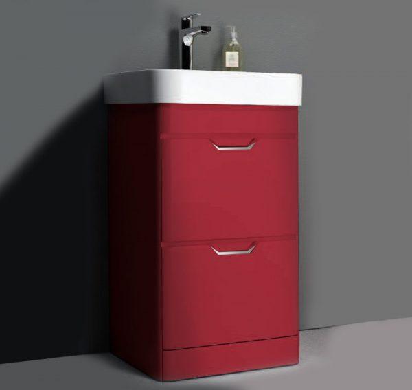 Sott Aqua Red Floorstanding Vanity Unit