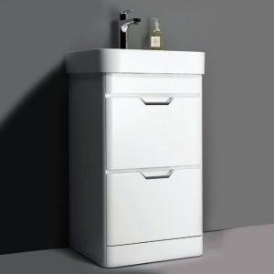 Sott Aqua Gloss White Floorstanding Vanity Unit