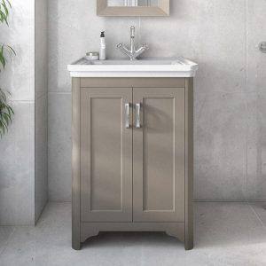 Baker Floorstanding Vanity Unit Grey