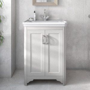 Baker 2 Door Floorstanding Vanity Unit White