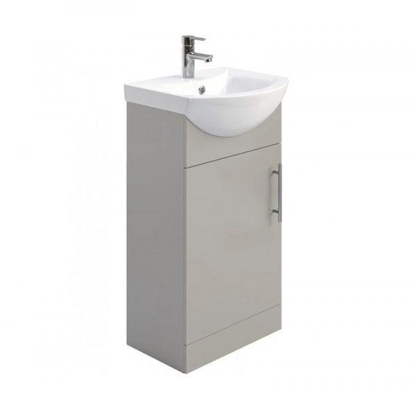 Belmont 450mm Gloss Light Grey Floostanding Cloakroom Unit