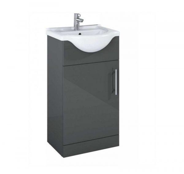 Belmont 450mm Gloss Grey Floostanding Cloakroom Uni