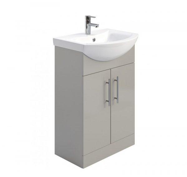 Belmont Gloss Light Grey Floostanding Vanity Unit