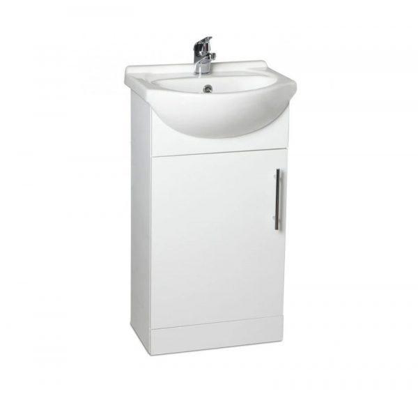 Belmont 450mm Gloss White Floostanding Cloakroom Unit