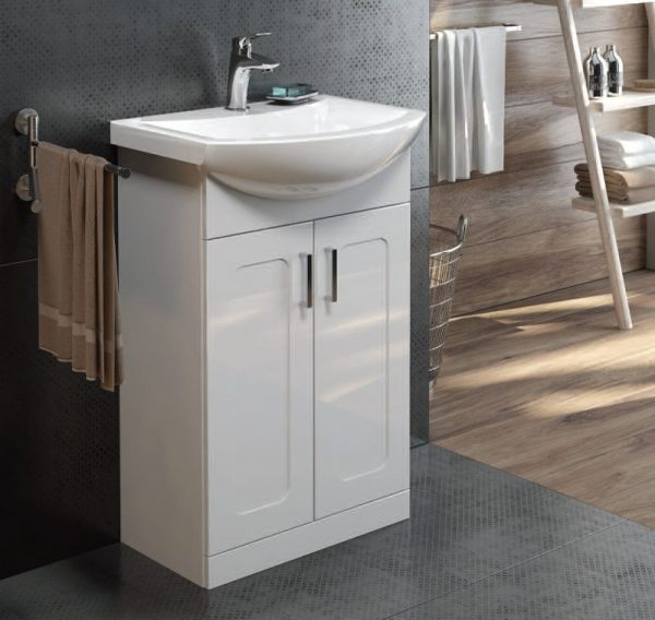 Bristol Gloss White Floorstanding Vanity Unit