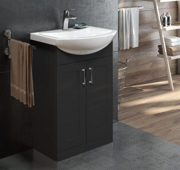 Bristol Graphite Floorstanding Vanity Unit