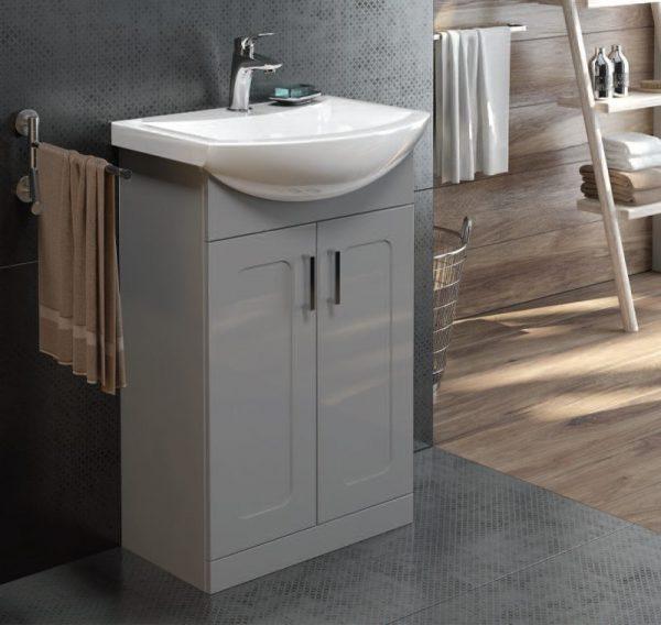 Bristol Steel Grey Floorstanding Vanity Unit