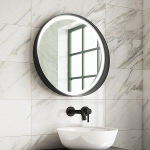 marino black framed led mirror