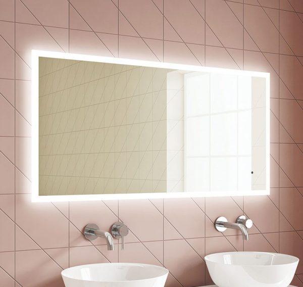 luna slimline led mirror