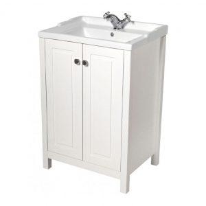 Kingston Chalk White Vanity Unit With Victoria Basin