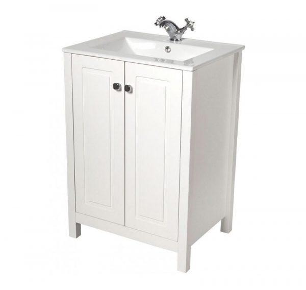Kingston Chalk White Vanity Unit With Toledo Basin