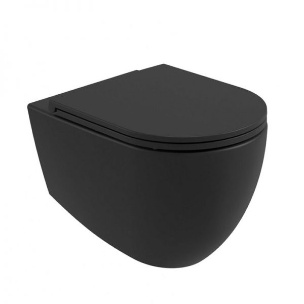 Carbon Black Wall Hung Toilet