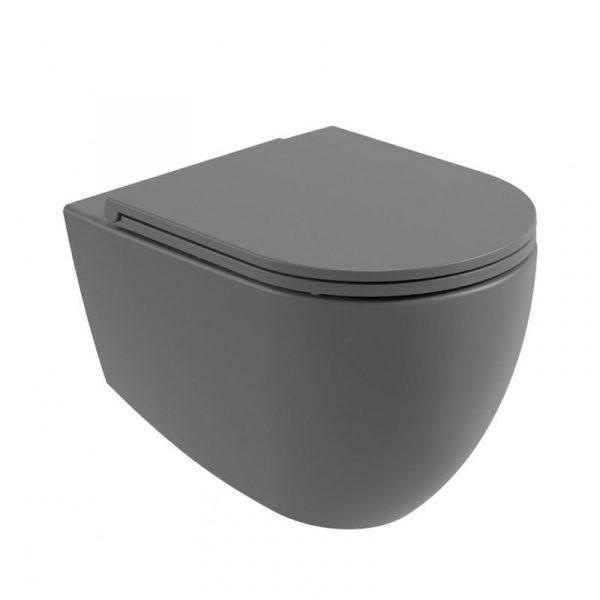 Charcoal Grey Wall Hung Toilet