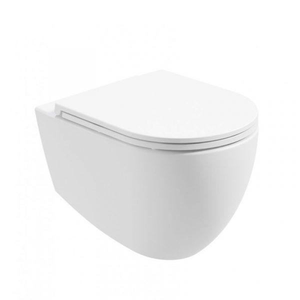 Satin White Wall Hung Toilet