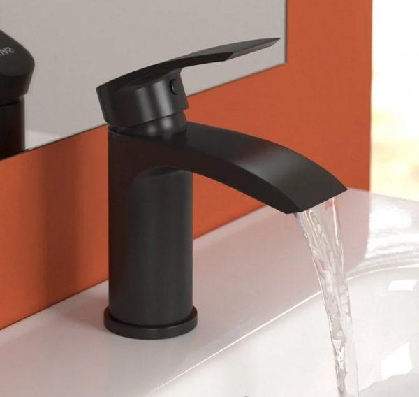 COrby black basin mixer