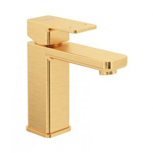 Contour gold basin tap
