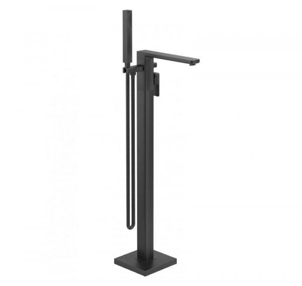 Contour Black Floor Standing Bath Shower Mixer