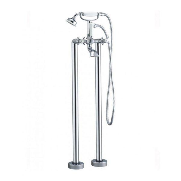 Traditional Lever Floor Standing Bath Shower Mixer