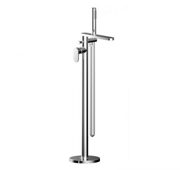 Norfolk Chrome Floor Standing Bath Shower Mixer