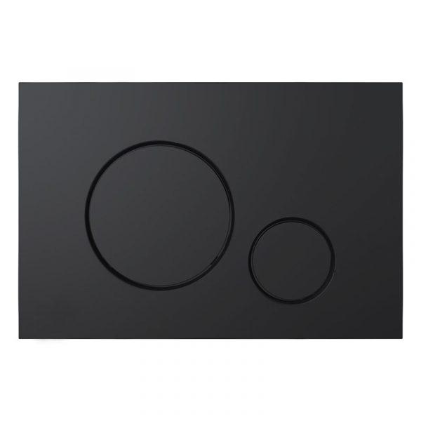 Carpi Matt Black Flush Plate