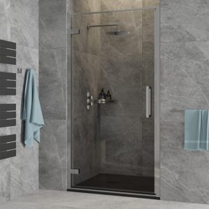 hinged shower door