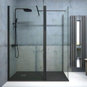 black wetroom panel