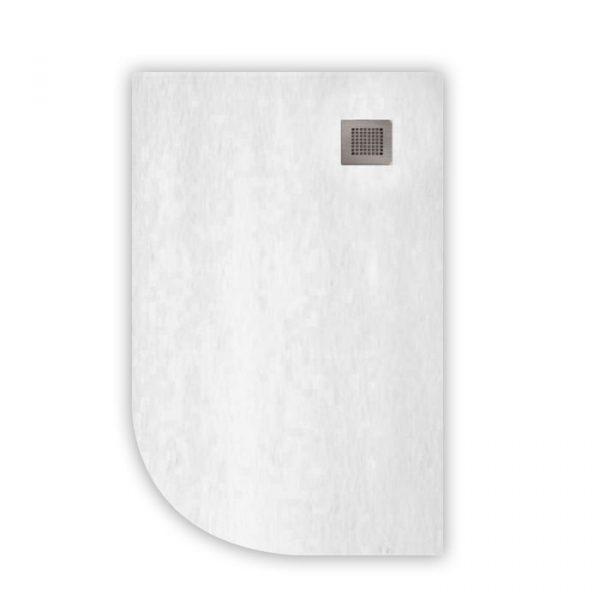 white Quadrant slate shower tray