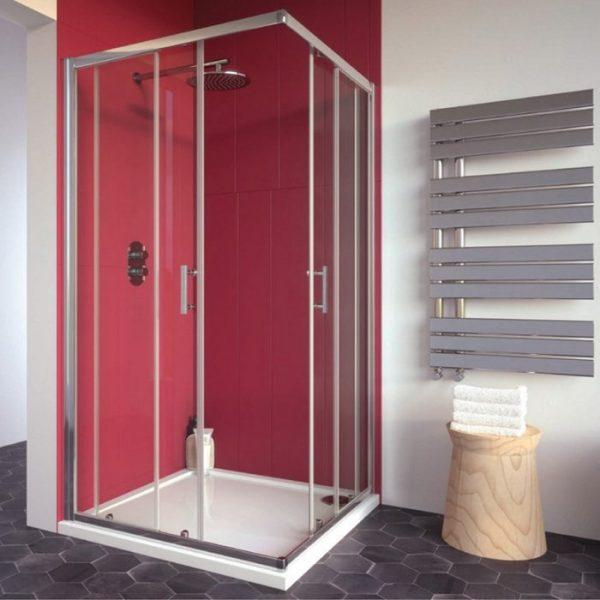 corner entry shower enclosure