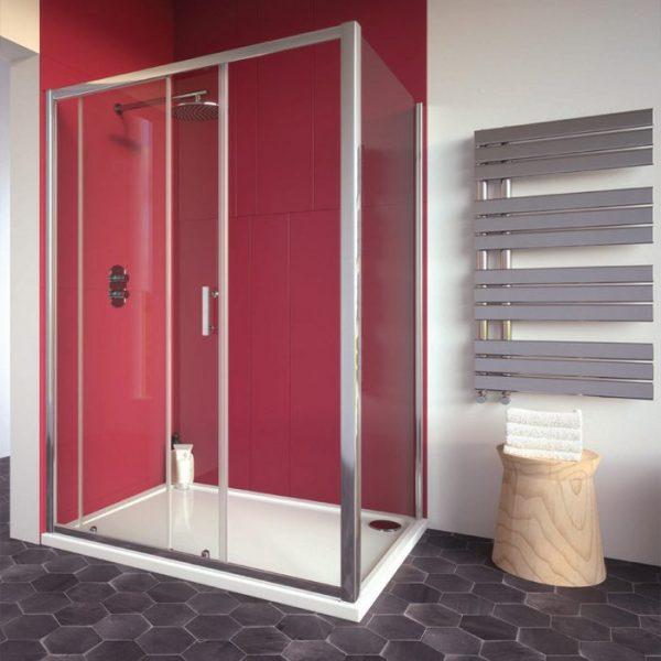 city plus sliding shower door