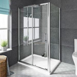 mereen sliding shower door