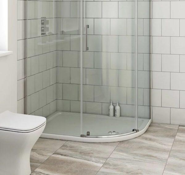 offset quadrant shower tray