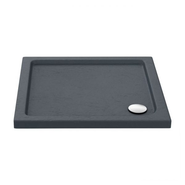 slate effect square shower tray